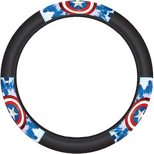 Captain America Shield Steering Wheel Cover