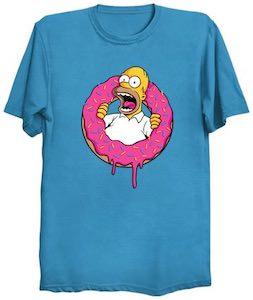 Homer Simpson Donut T-Shirt