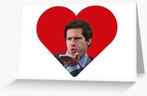 Jake Peralta Loves You Greetings Card