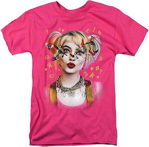 Harley Quinn Birds Of Prey Pink T-Shirt
