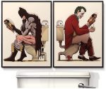 Batman And The Joker Washroom Poster Set