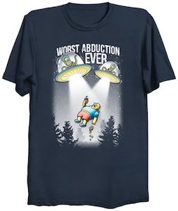 Comic Book Guy Worst Abduction Ever T-Shirt