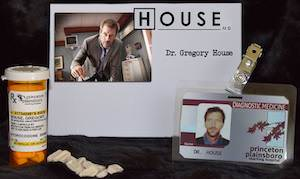 House MD ID And Vicodin Bottle