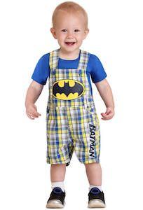 Cute Toddler Batman Shortall Set