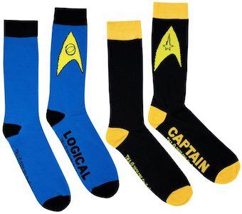 Star Trek Captain And Logical Socks