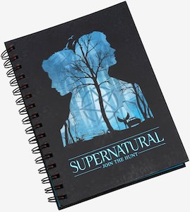 Supernatural Tabbed Notebook