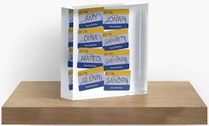 Superstore Name Tags Acrylic Block