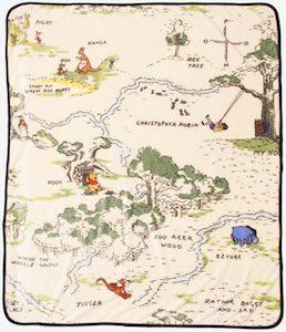 Winnie the Pooh Map Blanket