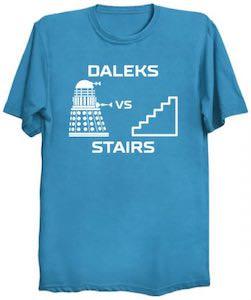 Dalek VS Stairs T-Shirt