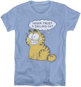 Garfield Never Trust A Smiling Cat T-Shirt