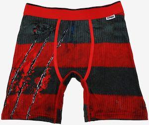 Nightmare On Elm Street Striped Boxers