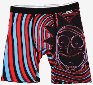 Swirly Rick and Morty Boxers