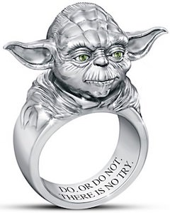 Sculptured Yoda Ring