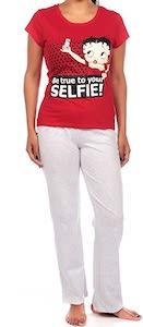Betty Boop Be True To Your Selfie Pajama Set