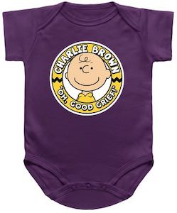 Charlie Brown Oh Good Grief Baby Bodysuit