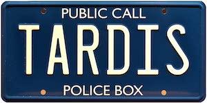 Tardis License Plate