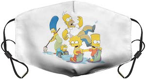 The Simpsons Family Spring Cleaning Face Mask