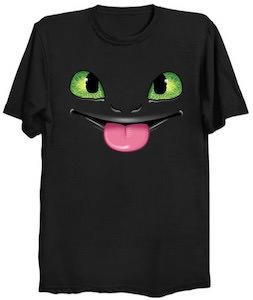 Toothless The Dragon Sticking His Tongue Out T-Shirt