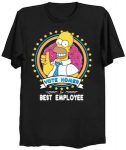 The Simpsons Vote Homer For Best Employee T-Shirt