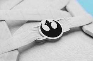 Star Wars Rebel Logo Lace Locks