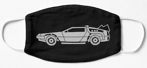 Back To The Future DeLorean Face Mask