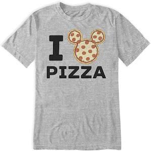 Mickey I Love Pizza T-Shirt