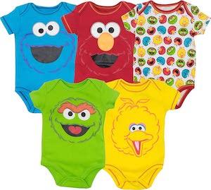 Sesame Street Baby Bodysuit Set