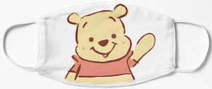 Waving Winnie the Pooh Face Mask