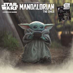 Star Wars 2021 Baby Yoda Wall Calendar