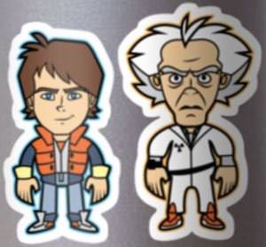 Back To The Future Marty And Doc Stickers