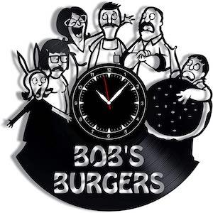 Record Bob's Burgers Wall Clock