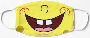 SpongeBob Smile Face Mask