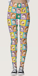 The Faces Of Morty Leggings