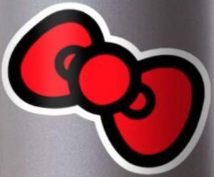 Hello Kitty Bow Sticker