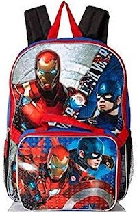 Iron Man And Captain America Backpack