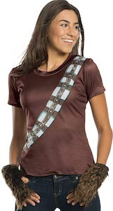 Women's Chewbacca Costume T-Shirt With Rhinestones