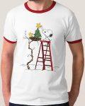 Peanuts Woodstock's Christmas Tree Christmas T-Shirt