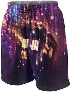 Tardis And The Galaxy Swim Trunks