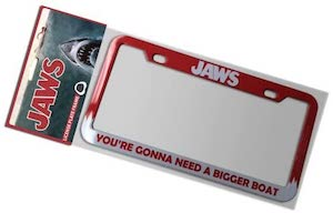 Jaws License Plate Frame