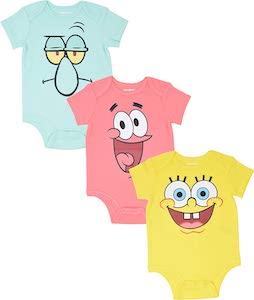 Squidward, Patrick, And SpongeBob Bodysuit Set