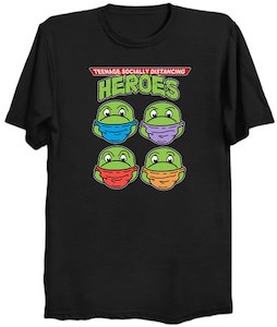 TMNT Teenage Heroes Social Distancing T-Shirt